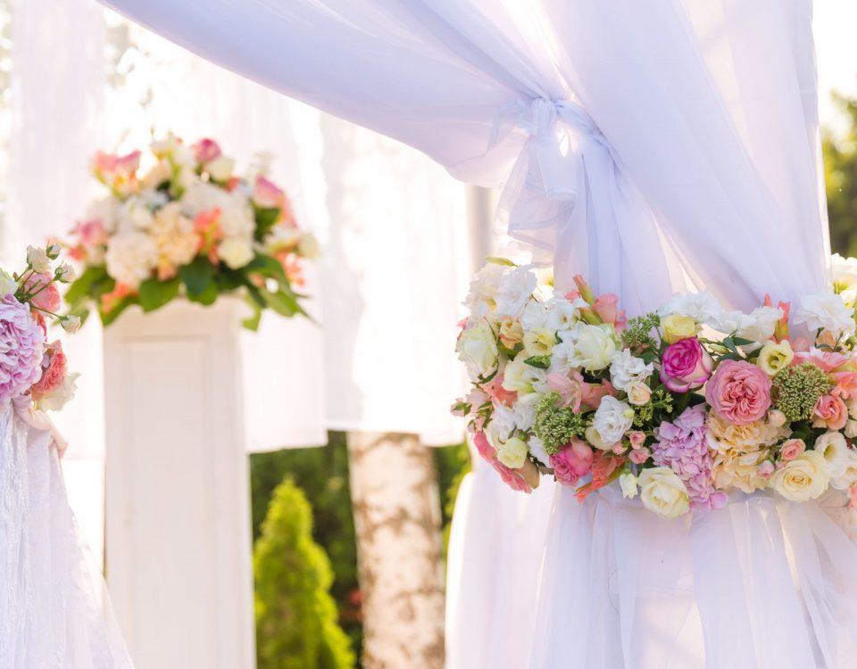 Dekoracje ślubne- rodzaje dekoracji weselnych
